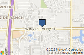 Bing Map of 2490 W Ray Rd Ste 2 Chandler, AZ 85224
