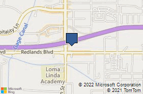 Bing Map of 24950 Redlands Blvd Ste F Loma Linda, CA 92354