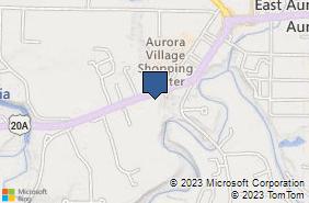 Bing Map of 250 Quaker Rd East Aurora, NY 14052