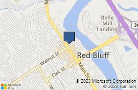 Bing Map of 250 Walnut St Red Bluff, CA 96080
