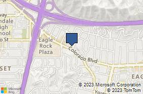 Bing Map of 2501 Colorado Blvd Ste B Eagle Rock, CA 90041