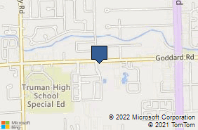 Bing Map of 25015 Goddard Rd Taylor, MI 48180