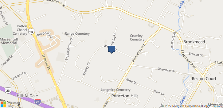 2513 Wesley Street Johnson City, TN, 37601 Map