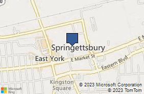 Bing Map of 2523 E Market St York, PA 17402