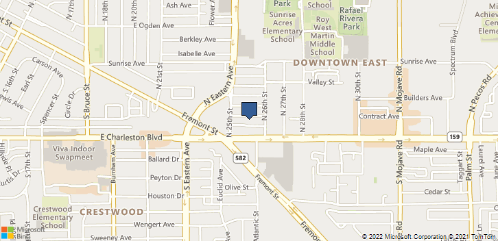 2525 Meadows Ave  Las Vegas, NV, 89101 Map