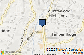 Bing Map of 2534 Rocky Ridge Rd Vestavia, AL 35243
