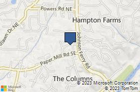 Bing Map of 255 Village Pkwy Ne Ste 430 Marietta, GA 30067