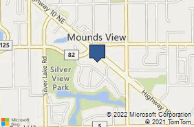 Bing Map of 2552 Mounds View Blvd Saint Paul, MN 55112