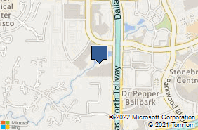 Bing Map of 2591 Dallas Pkwy Ste 300 Frisco, TX 75034