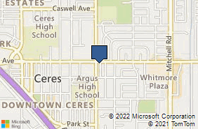 Bing Map of 2600 E Whitmore Ave Ste 4 Ceres, CA 95307