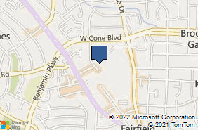 Bing Map of 2606 Branchwood Dr Greensboro, NC 27408