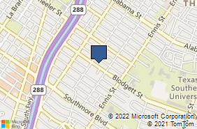 Bing Map of 2615 Blodgett St Houston, TX 77004
