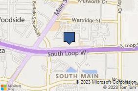 Bing Map of 2626 S Loop W Ste 155 Houston, TX 77054