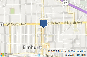 Bing Map of 263 N York St Ste 101 Elmhurst, IL 60126