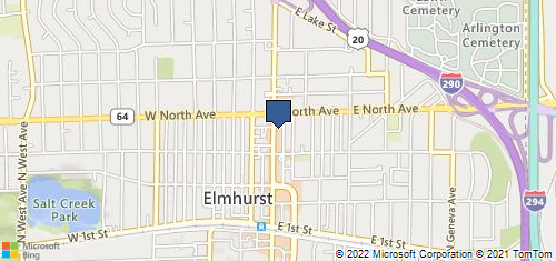 Bing Map of 263 N York St Ste 101 Elmhurst, IL 60126