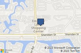 Bing Map of 2643 N Hiatus Rd Hollywood, FL 33026