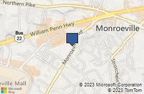 Bing Map of 2651 Monroeville Blvd Monroeville, PA 15146
