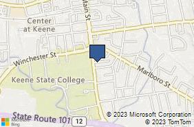 Bing Map of 266 Main St Keene, NH 03431