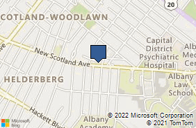 Bing Map of 269 New Scotland Ave Albany, NY 12208