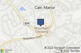Bing Map of 2700 Braselton Hwy Ste 14 Dacula, GA 30019