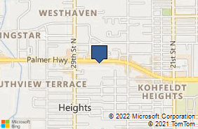Bing Map of 2709b Palmer Hwy Texas City, TX 77590