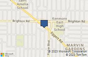 Bing Map of 2746 Eggert Rd Tonawanda, NY 14150