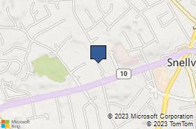 Bing Map of 2795 Main St W Ste 18b Snellville, GA 30078