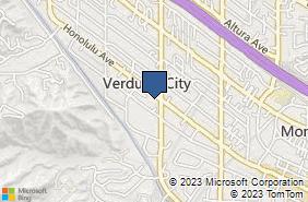 Bing Map of 2808 Honolulu Ave Glendale, CA 91208