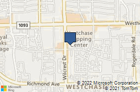 Bing Map of 2825 Wilcrest Dr Ste 150 Houston, TX 77042