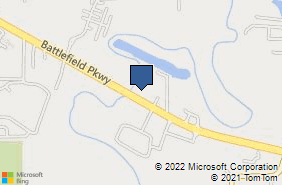 Bing Map of 2855 Battlefield Pkwy Fort Oglethorpe, GA 30742