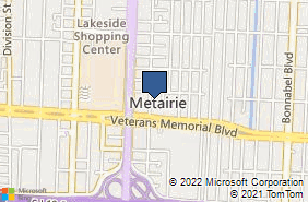 Bing Map of 2901 Ridgelake Dr Ste 113 Metairie, LA 70002