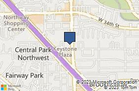 Bing Map of 2905 Mangum Rd Ste B Houston, TX 77092
