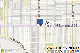 Bing Map of 2914 N Lombard St Portland, OR 97217