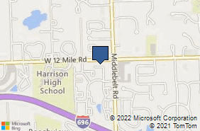 Bing Map of 29449 W 12 Mile Rd Farmington Hills, MI 48334