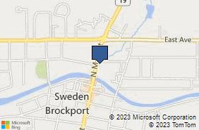 Bing Map of 30 N Main St Brockport, NY 14420