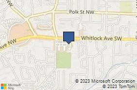 Bing Map of 30 Whitlock Pl Sw Marietta, GA 30064