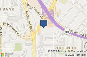 Bing Map of 300 E Esplanade Dr Ste 380 Oxnard, CA 93036
