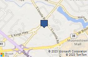 Bing Map of 300 S Lenola Rd Ste 6 Maple Shade, NJ 08052