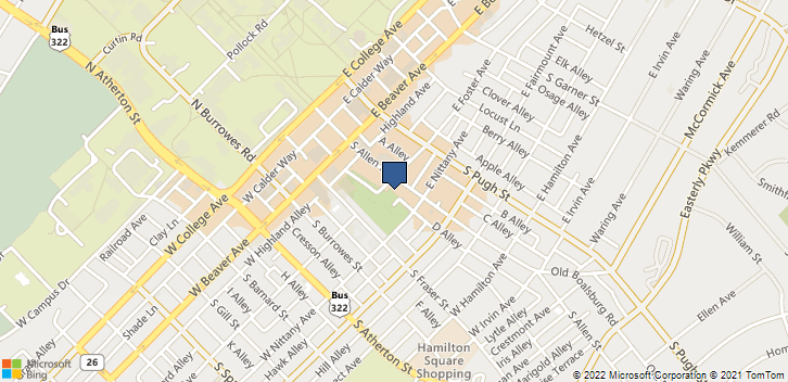 300 South Allen Street State College, PA, 16801 Map
