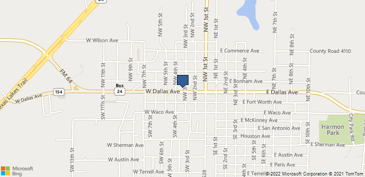 300 W Dallas Ave Cooper, TX, 75432 Map