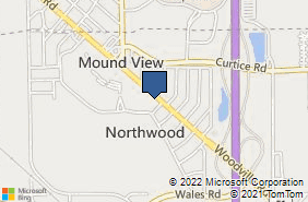 Bing Map of 3002 Woodville Rd Northwood, OH 43619
