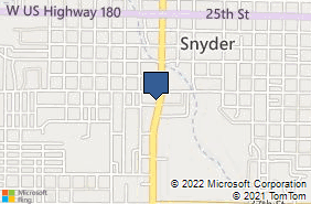 Bing Map of 3011 College Ave Ste 101 Snyder, TX 79549