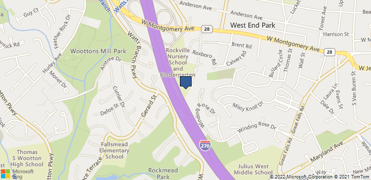 303 Adclare Rd Rockville, MD, 20850 Map