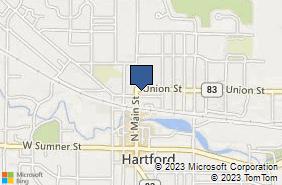 Bing Map of 304 N Main St Hartford, WI 53027