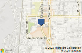 Bing Map of 305 W Aviation Rd Fallbrook, CA 92028