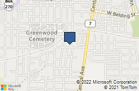 Bing Map of 306 W Saint Louis St Hot Springs, AR 71913