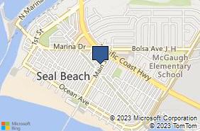 Bing Map of 309 Main St Seal Beach, CA 90740