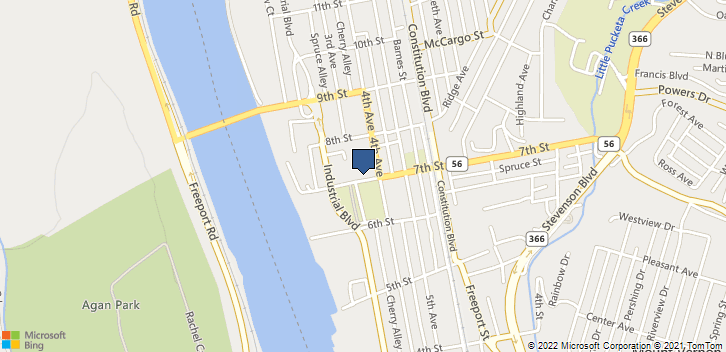 311 7th St New Kensington, PA, 15068 Map