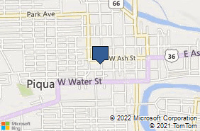 Bing Map of 312 Caldwell St Piqua, OH 45356