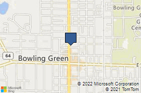 Bing Map of 312 N Main St Bowling Green, OH 43402
